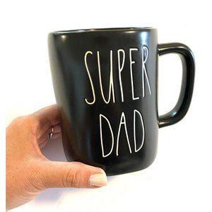 "New Rae Dunn LL ""SUPER DAD"" Black Mug NEW!"
